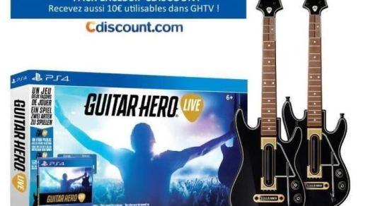 Guitar Hero Live, 2 guitares et une PS4 pour moins de 400€ ? C'est ici !