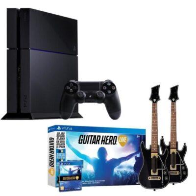 Promo PS4 + Guitar Hero Live + 2 Guitares