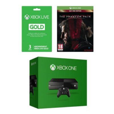 La Xbox One + 3 mois de Gold + Metal Gear Solid V + 100€ de bons d'achat à 349€ !