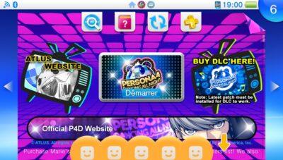 Je m'empresse de lancer Persona 4 Dancing All Night reçu dernièrement !