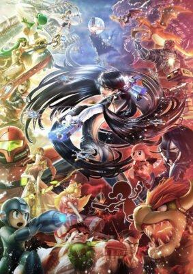 Artwork de Smash Bros Bayonetta