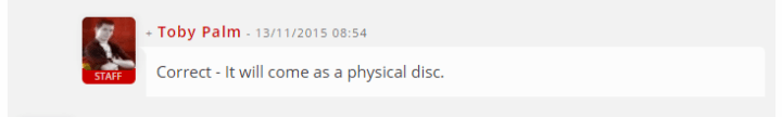 Physical Disc for Life is Strange