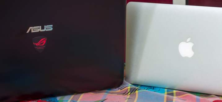 "Asus ROG g551vw & Macbook Air 11"""