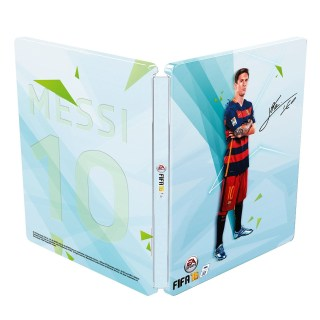 Le Steelbook avec la signature de Messi