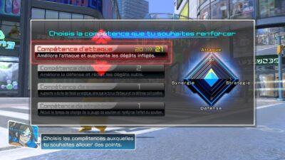 Voici l'écran vous permettant d'améliorer vos Pokémon
