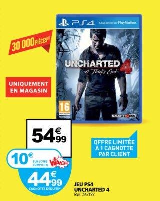 Uncharted à 44€90 ? C'est (presque) possible !