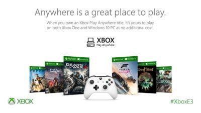 Xbox Play Anywhere. Un programme qui fait plaisir !