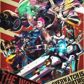 Les héros d'Overwatch sur une seule et même affiche par Monori Rogue !