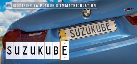 Hey ouais ! Dans Forza Horizon 3, toi aussi tu pourras avoir ta plaque SuzuKube !