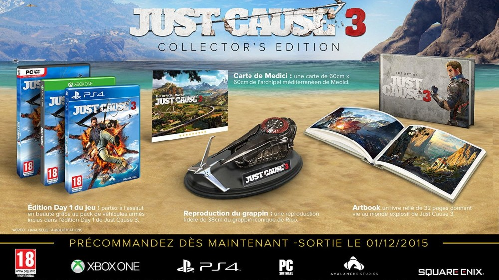 Just Cause 3 en édition collector à 50€ !