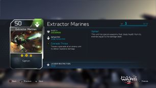 Halo Wars 2 Blitz Extractor Marines Description
