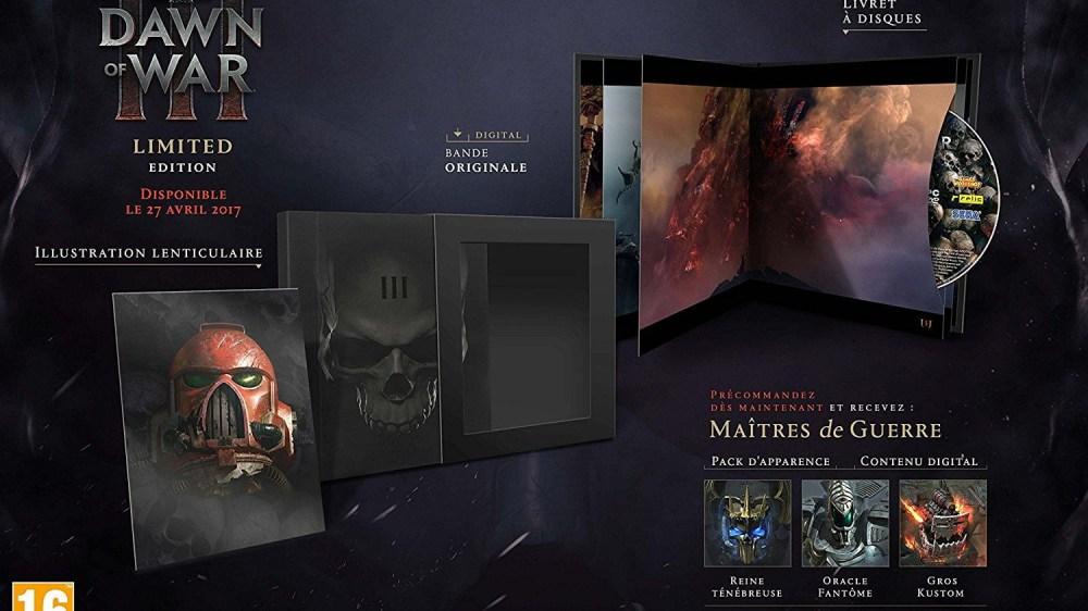 L'édition collector de Warhammer 40,000: Dawn of War III