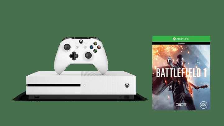 La Xbox One S + Battlefield 1 à 199€ pendant 24, c'est exceptionnel !