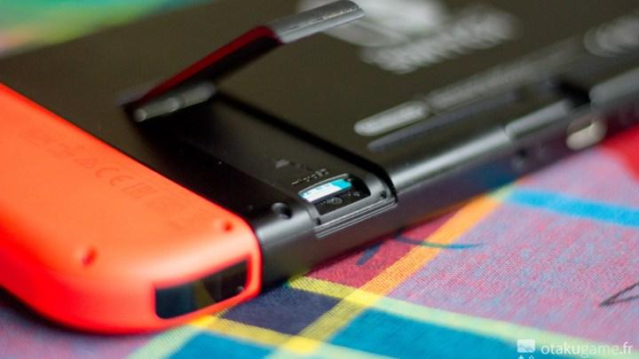 La carte SD de la Nintendo Switch est facilement accessible et interchangeable !