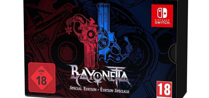 L'édition collector de Bayonetta 2 est aux couleurs des Joycons de la Switch ! Hasard ?
