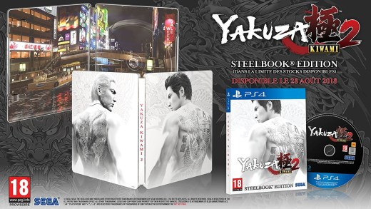 Yakuza Kiwami 2 et son Steelbook