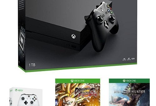 Xbox One X + 2 manettes + Dragon Ball FighterZ + Monster Hunter World