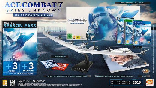 L'édition collector d'Ace Combat 7 avec son immense avion miniature ^^ !