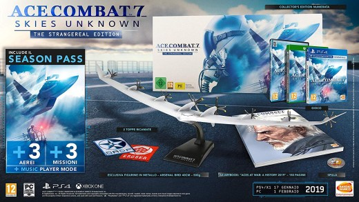 L'édition collector d'Ace Combat 7 avec son immense avion miniature ^^ !