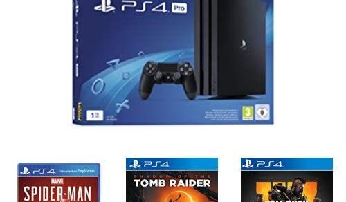 La PS4 Pro + ses 3 jeux pas chère, à 399€ seulement !