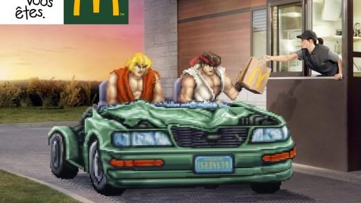 McDonald's, venez comme vous êtes avec Ryu et Ken !