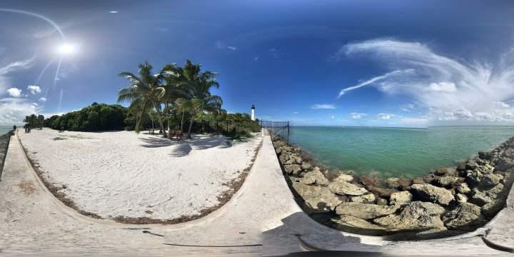 Visitez la plage de Key Biscaye... Sans bouger de chez vous !