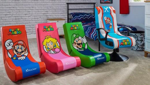 Rocking Chair Mario Peach Luigi Nintendo Switch