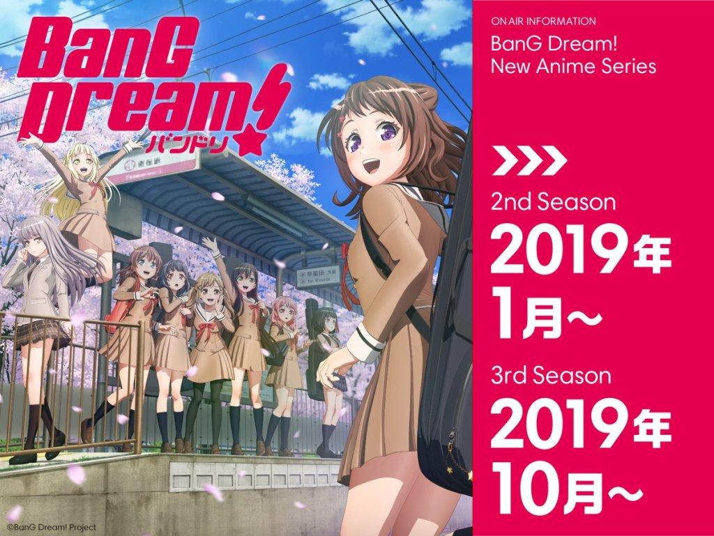 Anime BanG Dream! Season 2 và Season 3 công bố thời gian ra mắt