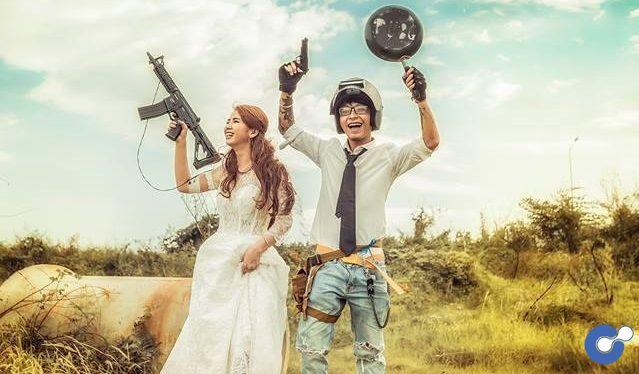 Bộ ảnh cưới mang phong cách PUBG vô cùng ấn tượng