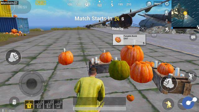 PUBG Mobile: Hết bom Táo, Tencent lại cho game thủ ném bom Bí Ngô