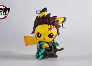 Ngắm búp bê Pikachu phiên bản Kimetsu no Yaiba siêu dễ thương