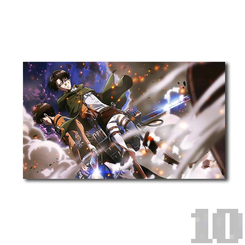 Poster attaque des titans Eren et Levy