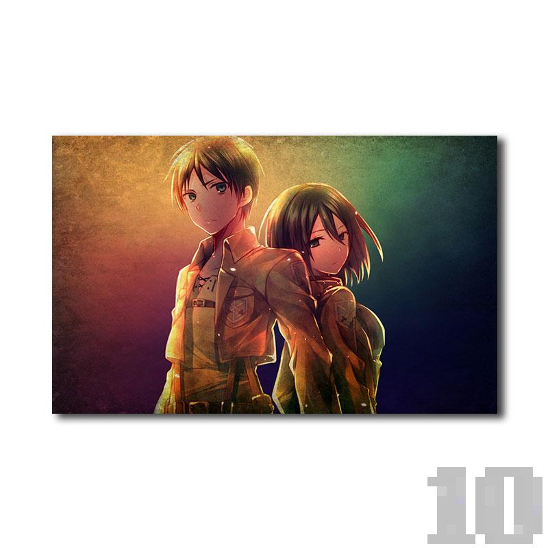 Poster attaque des titans Couple