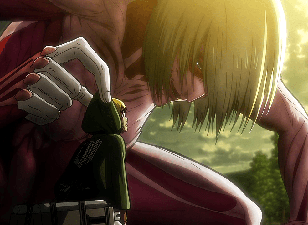 Armin_encounters_the_Female_Titan