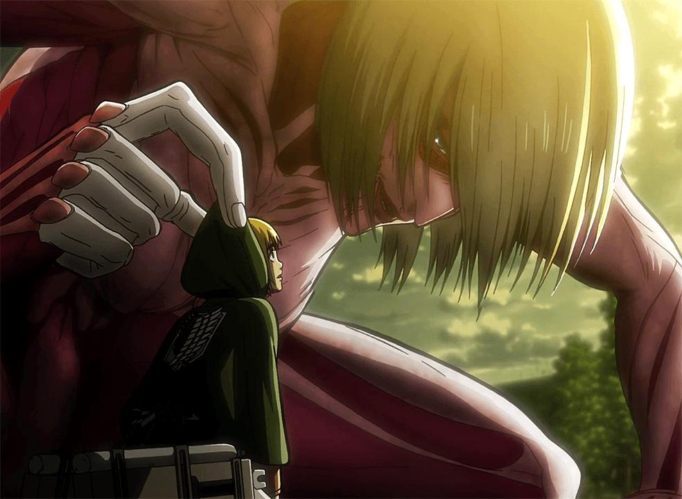 Armin_encounters_the_Female_Titan
