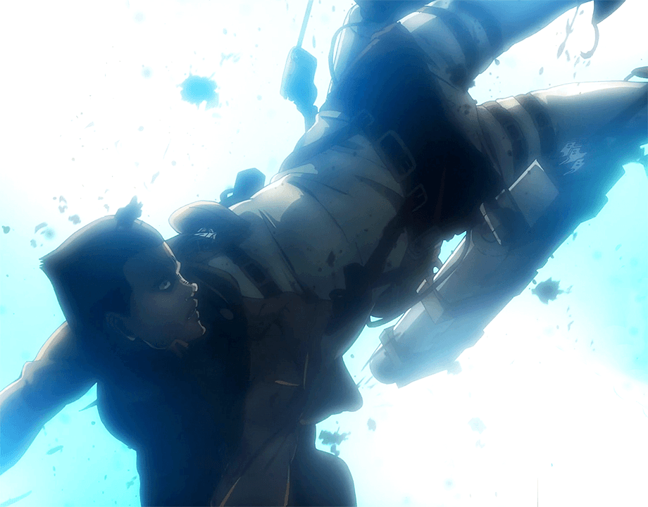 Image of Gunter's_death in episode 20 of Attack on Titan.