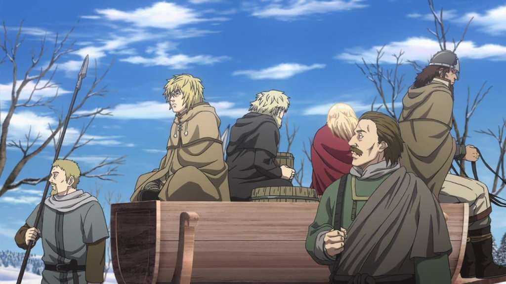 Thorfinn, Canute and Bjorn surrounded by enemies