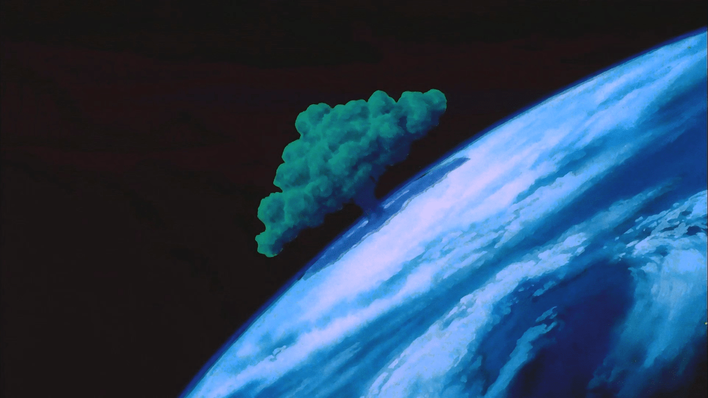 An image of the Tree of Might growing on Earth in Dragon Ball Z: The Tree of Might