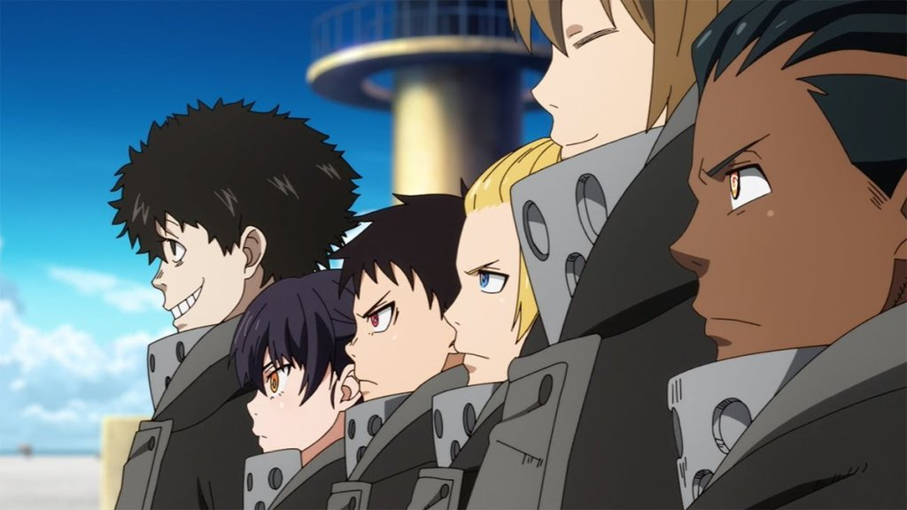 The new Fire Force team