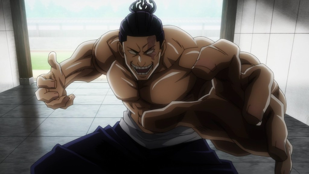 Aoi Todo is a beast. He attacks Megumi in episode 8 of Jujutsu Kaisen.