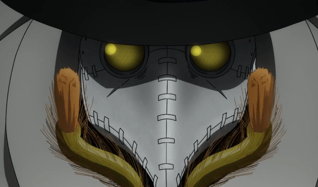 In episode 21 of Fire Force, Dr. Giovanni and gets creepy insect mods.