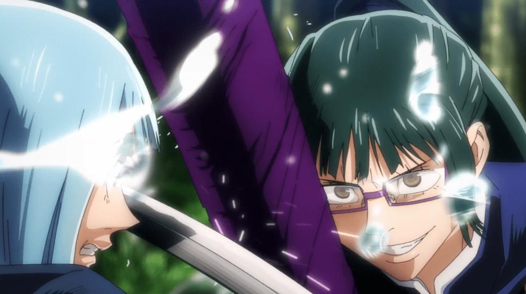 Maki dominates Kasumi in combat in episode 17 of Jujutsu Kaisen.