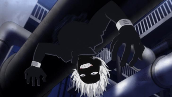 Shihai Kuroiro merges with the shadows, as he fights Class 1-A.