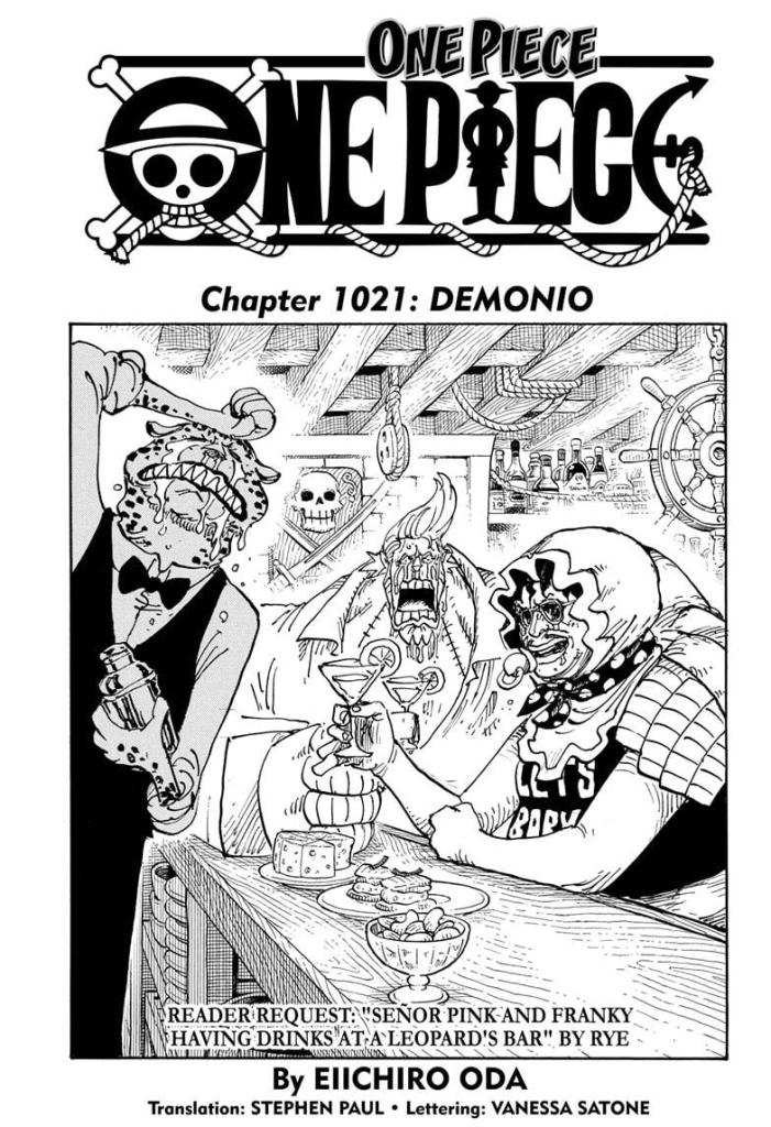 The Cover of One Piece Chapter 1021.