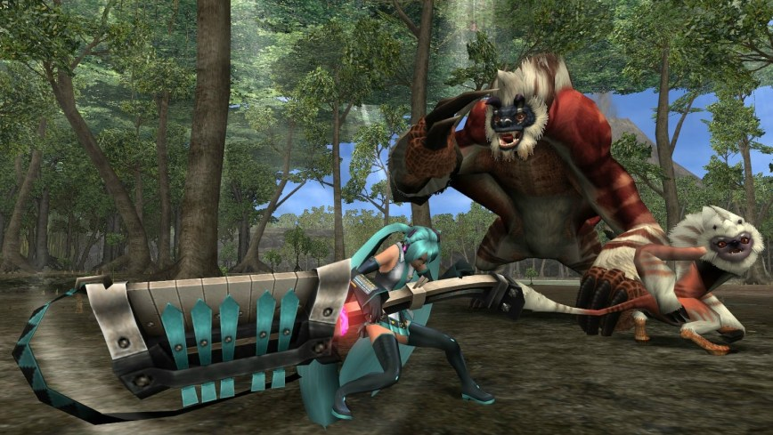Monster Hunter Frontier x Hatsune Miku pic 2