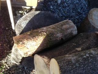 薪ストーブの薪づくり