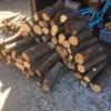 【薪づくり】電気の7トンマシンで割る用に、山土場から枝薪(選木)をもってきた。