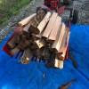 朝から薪割り2 順調です!