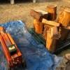 【針葉樹薪づくり】神社でもらった針葉樹を割る