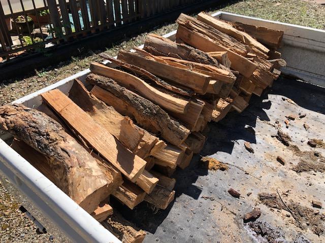 【自宅用の薪】自宅用の薪を山から移動